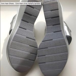 Cole Haan Shoes - Cole Haan Silver Sandals